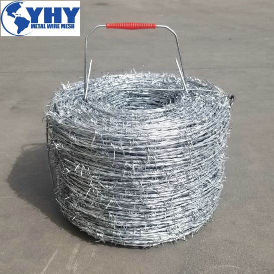 Wholesale Galvanized Barbed Wire / Barb Wire Fence / Galvanized Metal Protect Barbed Wire
