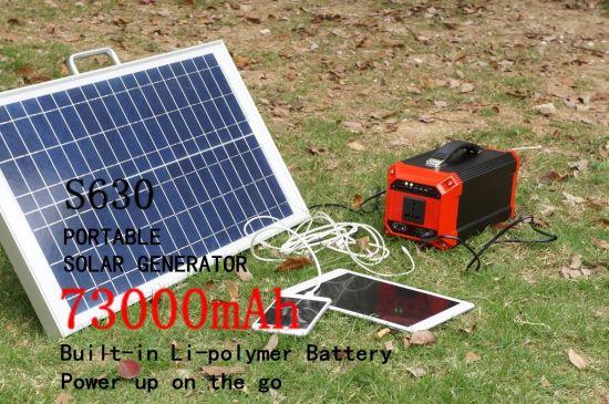 Multifunction off-Grid Solar Energy Generator Solar Power Generator for Emergency