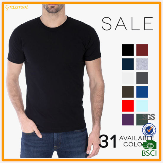 a0a3f8784b8 Factory Custom Cheaper Cotton High Quality Blank Man T-Shirt Clothing  pictures & photos