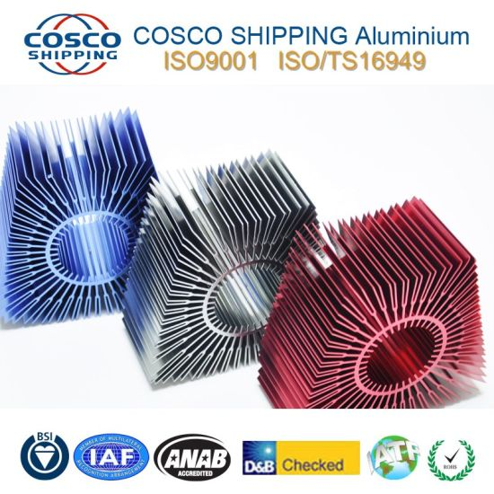 Aluminum Profile Extrusion for Heatsink with Anodizing pictures & photos