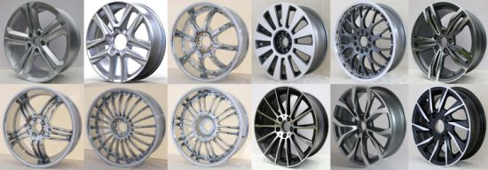 Tubeless Aluminum Car Wheel Rim (12X4.50 13X5.00 14X5.50 15X6.00 16X6.00 17X8.00 20X8.50)