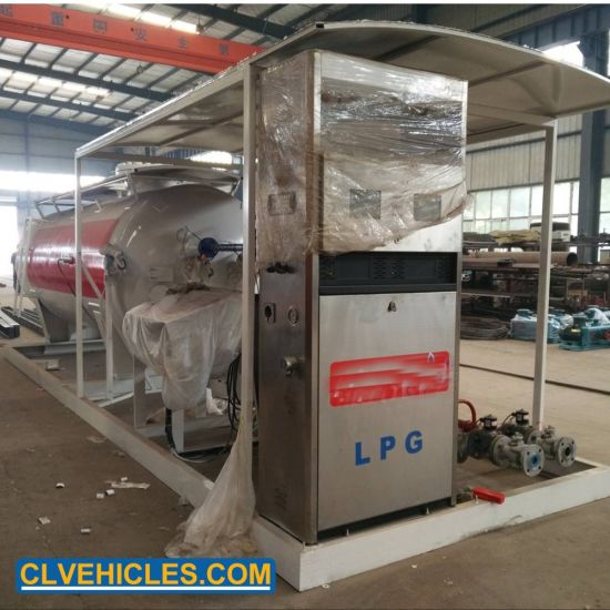 4t 10000L 10m3 Green Energy Auto LPG Two Double Nozzle Mobile LPG Refueling Refill Filling Skid Station pictures & photos