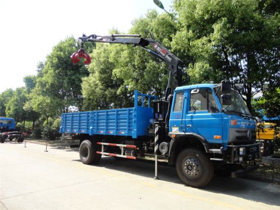 Dongfeng 145 153type Truck Mounted Crane with Grab