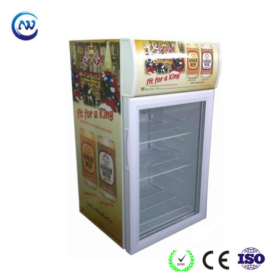 Mini Countertop Display Cooler Hotel Bar Refrigerator for Drink (JGA-SC58)