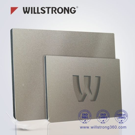 3mm Pet Coating Aluminum Composite Panel for Shop Display Adverttising Promotion pictures & photos