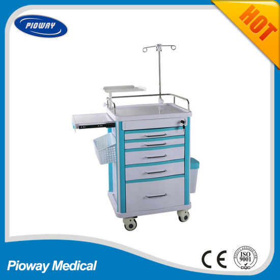 Portable Cart Hospital Emergency Nursing Equipment Trolley (PW-703)