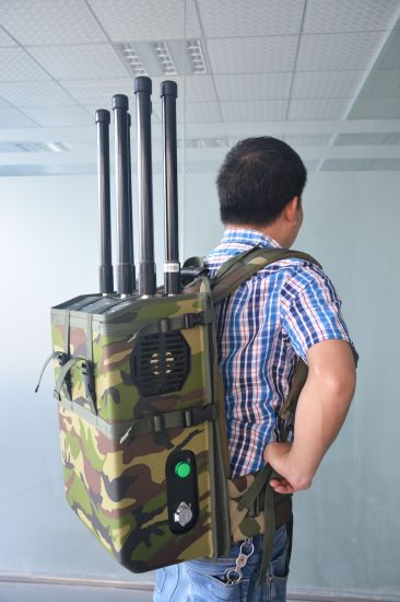 Backpack Jammer Drone Jammer 6 Channels 90W GPS 5.8g WiFi to 200m pictures & photos