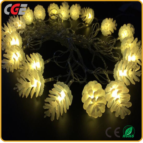 China 20 Led Pine Cone Solar String Lights For Wedding Decoration