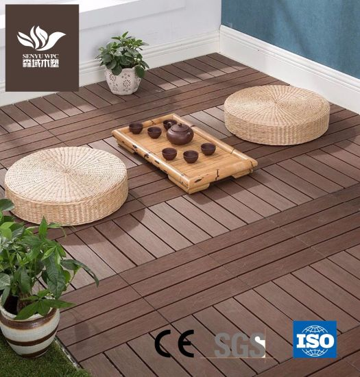 Wood Plastic Composite DIY Flooring for Courtyard