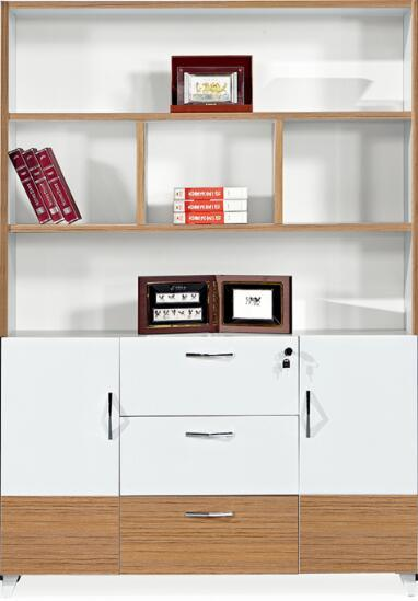 Modern Melamine 7 Doors Filing Bookcase Bookshelf For Office Project China Cabinet Made In