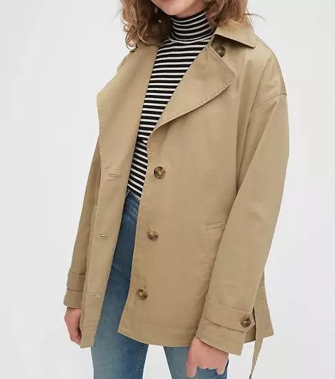 Wholesale Factory Custom Long Style Adjustable Waist Plus Size Winter Trench Coat Women
