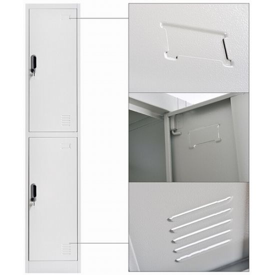 Classic design Double Doors Steel Locker pictures & photos
