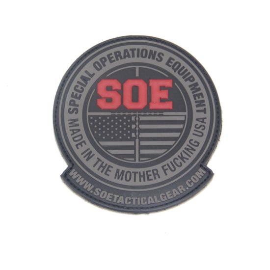 No Minimum Clothes 3D Tactical Morale Soft Silicon Rubber Logo Patches Custom PVC Patch