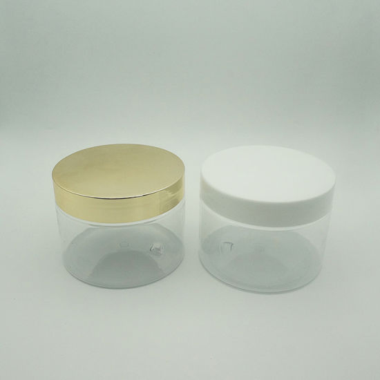Hight Quality Transparent Big Cream Jar with Plastic Cap