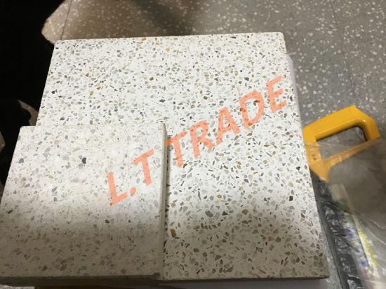 Light Brushed Surface Terrazzo Floor Tiles
