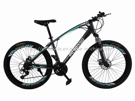 26 Inch Alloy Suspension Fork Disc Brake 21 Speed Mountain Bicycle pictures & photos
