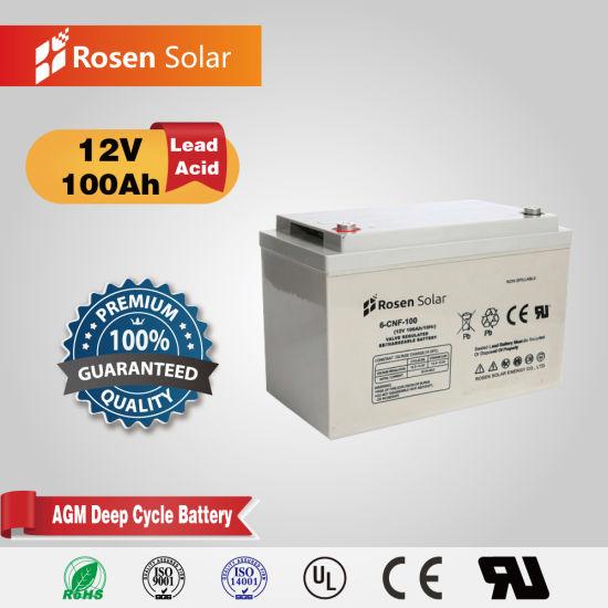 Rosen Solar 12V 100ah Deep Cycle AGM Battery