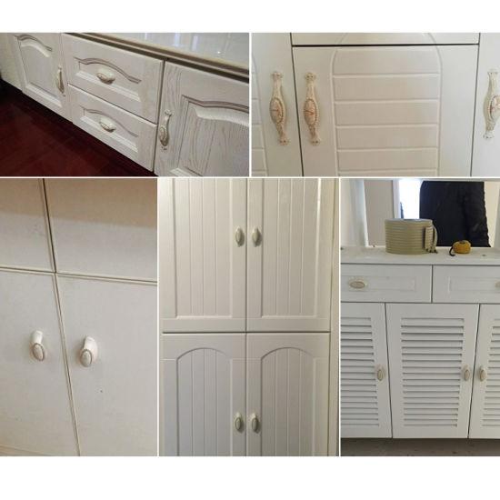 Classic White Porcelain Ceramic Cabinet Cupboard Door Pull Knob