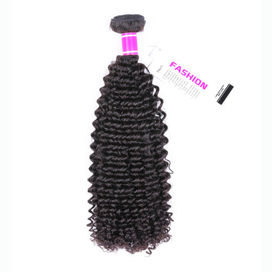 Popular Style Raw Double Drawn Kinky Curly Brazilian Virgin Human Hair pictures & photos