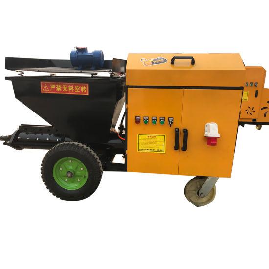 Motor Automatic Sand Mortar Spraying Pump Machine Wall Cement Plaster Machine