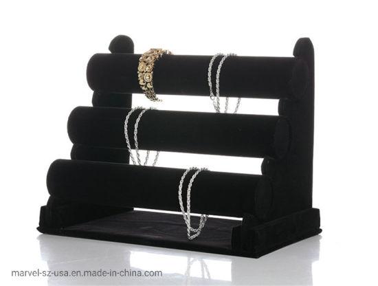 3 Layers Watch T-Bar Rack Organizer Jewelry Holder Display Stand