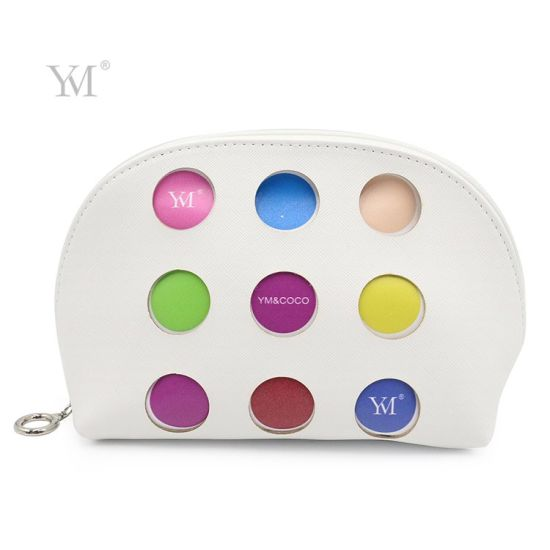 Beautiful Semicircle Shell Shape PVC Leather Cosmetic Bag Make up Pouch