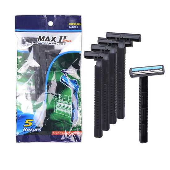 Twin Blade Biodegradable Razor 2 Blade Disposable Shaving Razor Eco-Friendly