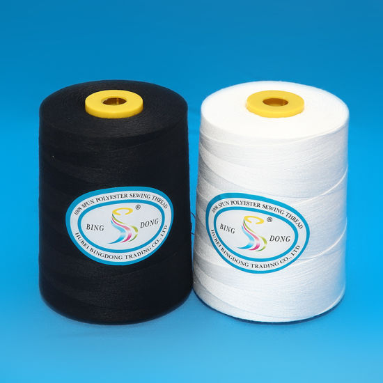40s/2 40/3etc. 5000m/Cone 3000m/Cone White or Color 100% Spun Polyester Sewing Thread