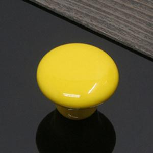 Yellow and Grey Vintage Ceramic Cabinet Door KnobsChina Cupboard Drawer Pulls