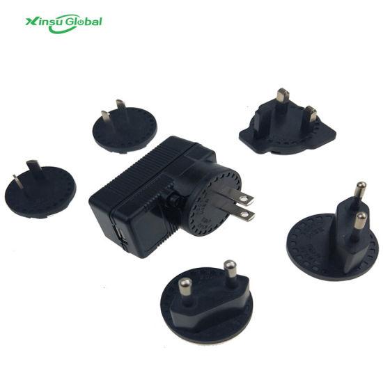 Interchangeable International Plug Universal USB Power Charger Adapter 5V 1A 1.5A 2A 2.5A 3A