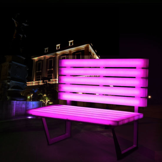 New Invention Outdoor Furniture Solar Lighting Bench Led Illuminated Chair