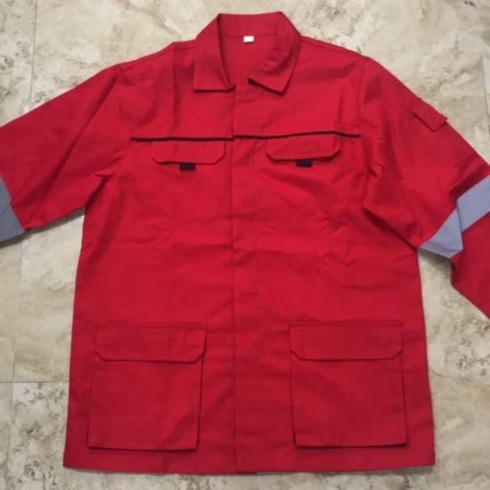 Men's Work Uniform Safety Coat and Pant for Constructon Site