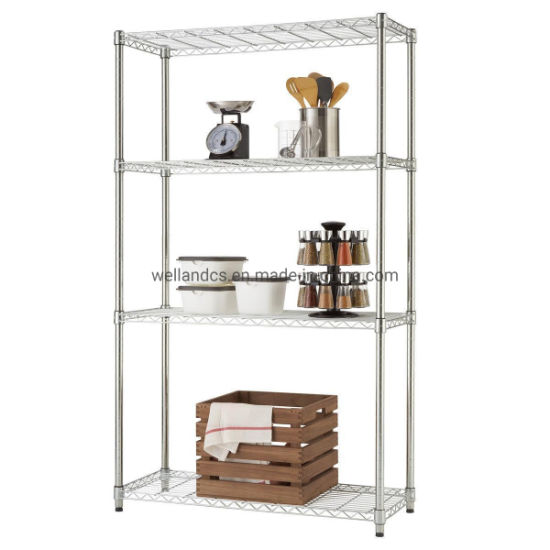Adjustable Metal Furniture Chrome Wire Shelving Rack Wholesale