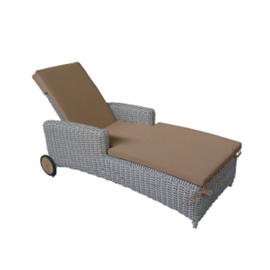 Outdoor Sun Lounger Chair With Wheel
