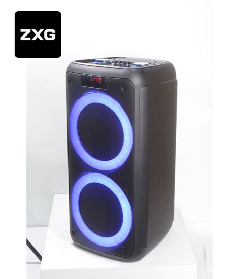 DJ Speaker Box Audio Equalizer Voice Coil Woofer Party Box Rechargeable with Jbl Light Professional Bluetooth Portable PA Speakers