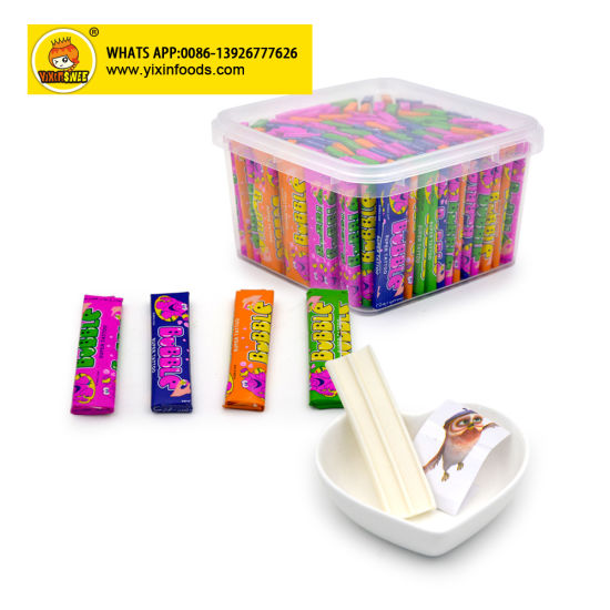 Fruit Flavor 7cm Jar Packing Tattoo Bubble Gum Candy