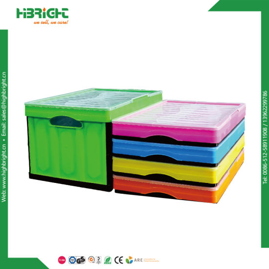 Stackable Foldable Plastic Crate for Fruit and Vegetable pictures & photos