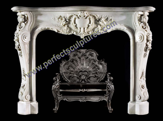 Marble Fireplace with Stone Limestone Sandstone Granite (QY-LS382) pictures & photos