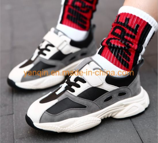Trendy Casual Wave Superfiber Leather Children′ S Sports Shoes High-Grade Outdoor Father Shoes