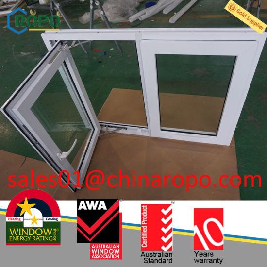 Pvc External Double Pane Soundproof Cat Windows And Doors