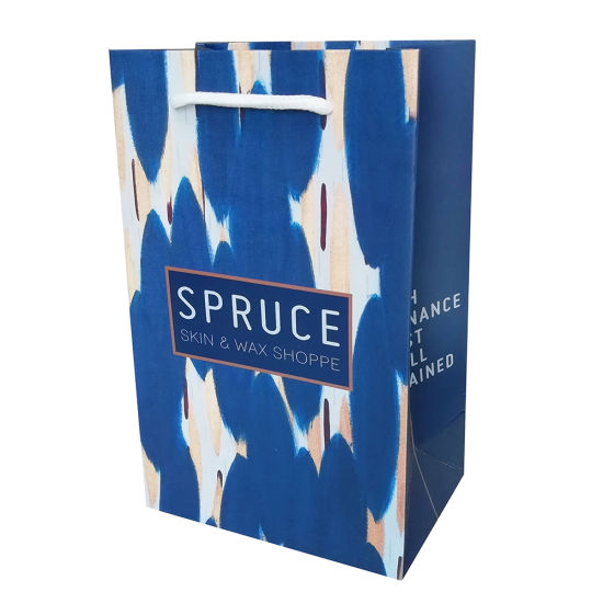 High Quantity Shopping Paper Bag with Full Printing for Clothing Custom Design Printing High End Paper Bag