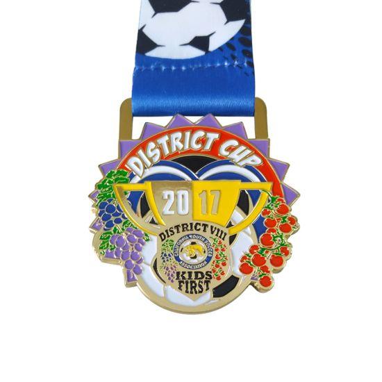 Gold Zinc Alloy Sports Champion Honor Blank Custom Cycling Medal