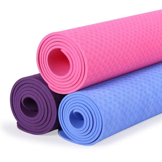 Eco Friendly Anti Slip Wholesale TPE Yoga Mat