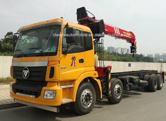 Auman Heavy Duty 8X4 Boom Crane on Truck 12 Tons Crane Truck Price pictures & photos