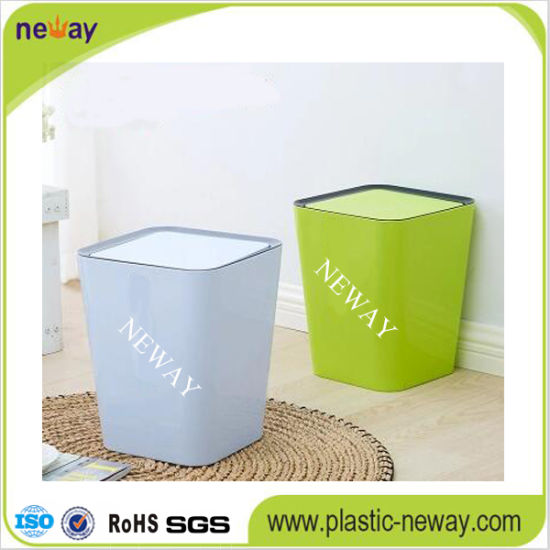 Swing Lid Plastic Trash Can pictures & photos