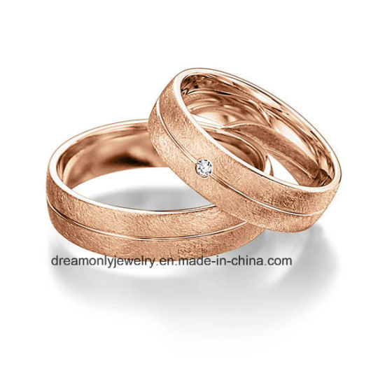 China European Style Latest Cz Wedding Ring Sets Top Quality