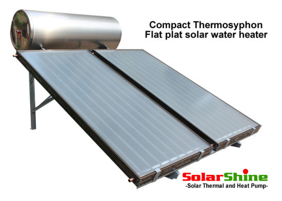 Black or White Flat Plate Panel Solar Water Heater with Selective Coating Absorber