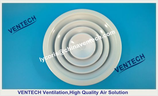 Round Ceiling Diffuser with Plastic Damper HVAC Air Diffuser
