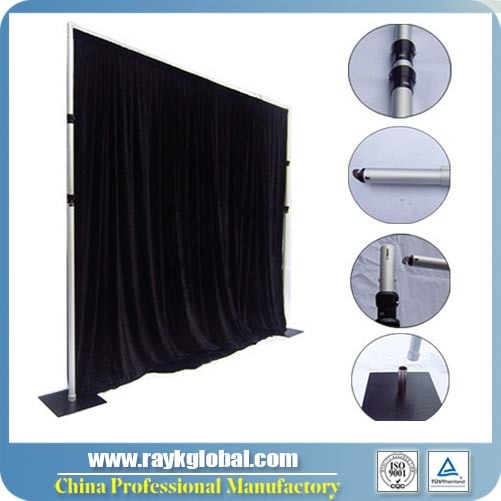 sheer x white drape ft for product telescopic wedding wide pipe drapes high innovative buy backdrop detail and kit kits systems