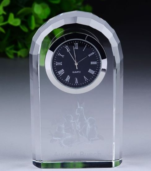 Wholesale Glass Pen Holder Home Supply Decoration Office Stationery Premium Promotion Business Corporate Souvenir Crystal Craft Desk Clock Gift